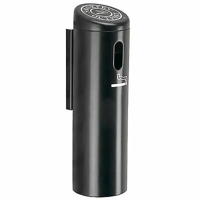 New Wall Mounted Ashtray Indoor Outdoor Cigarette Receptacle Black
