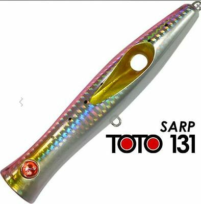Artificiale Popper Toto 131 Col Sarp Seaspin Lure Señuelo Spinning Mare Italy