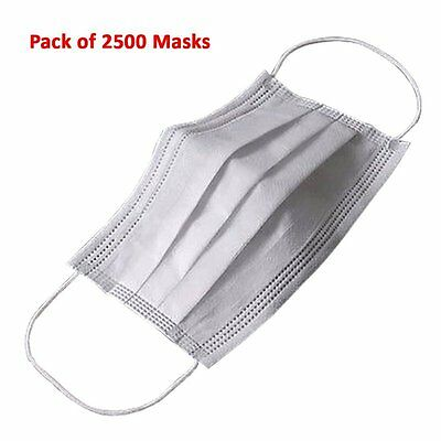 SOFT Disposable Face Mask 3-Ply Earloop Medical Dental Surgical Hypoallergenic