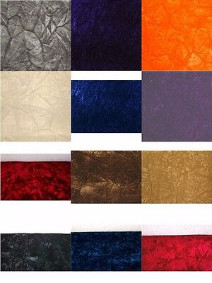 14 Colors Available Upholstery Crushed Velvet Fabric Free Shipping