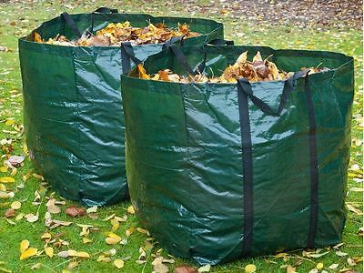 2 X Heavy Duty Refuse Sack Bag 150l Garden Waste Bag Weeds Leaves Bin Cutting