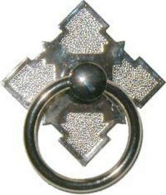 Eastlake Victorian Style Nickel Plated Brass SINGLE POST RING PULL