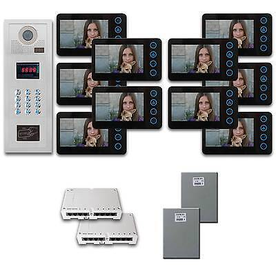 Multi Tenant Video Intercom 10 five inch monitor door panel camera