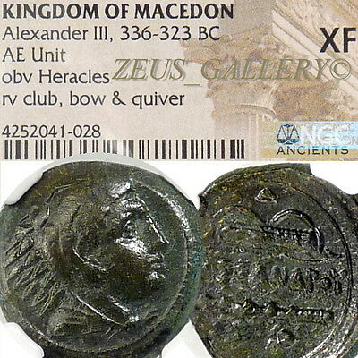 ALEXANDER the Great Lifetime Issue! NGC XF Macedon HERAKLES Ancient Greek Coin