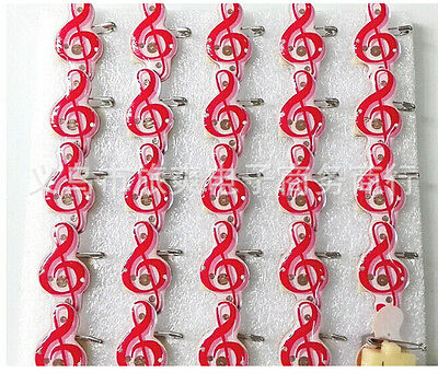 25 pcs Musical Note LED Flashing Light Up Badge Pins Halloween Party Favors