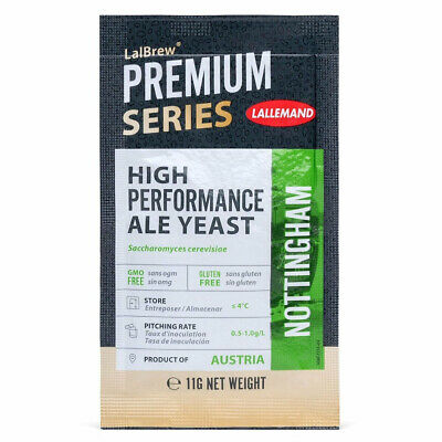 Lallemand Nottingham Ale Beer Yeast 11g  Home Brew Sachets  FP