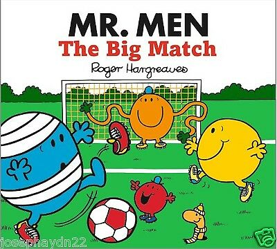 NEW sparkly MR MEN the BIG MATCH (BUY 5 GET 1 FREE book Little Miss Men