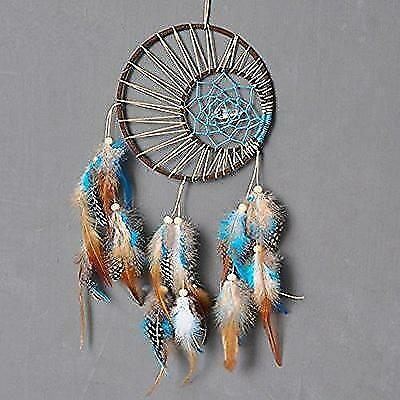 Dremisland Indian Double-circle Dream catcher Wind Chimes Feather Pendant wall