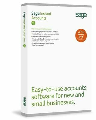 Sage Instant Accounts 2015 DVD Retail Boxed Brand New Full Licence (PC)