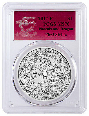 2017-P Australia $1 1 oz. Silver Dragon & Phoenix PCGS MS70 FS (Dragon) SKU44102