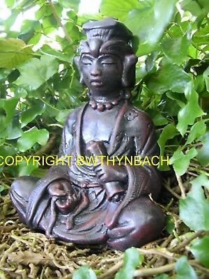 New Rubber Latex Concrete Mould Moulds Mold Buddha Meditating Statue B