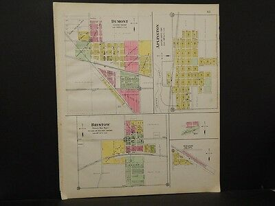 Iowa, Butter County Map, Dumont, Bristow, Aplington 1917  K7#74