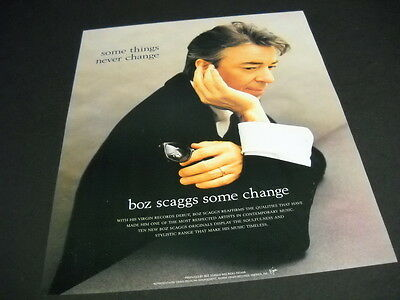 BOZ SCAGGS says SOME THINGS NEVER CHANGE 1994 Promo Poster Ad from SOME CHANGE