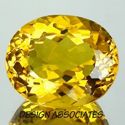 Golden Beryl Oval Cut Outstanding Color 5.60 Carats 14X11 Mm