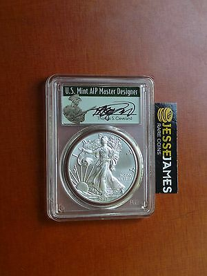 2017 (W) Silver Eagle Pcgs Ms70 Thomas Cleveland First Strike Minuteman Label