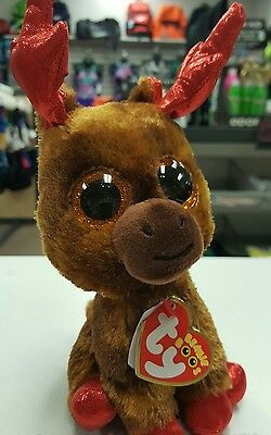 "New TY Beanie Boo's Maple  6"" Reindeer Special Canada 150th Anniversary Small"