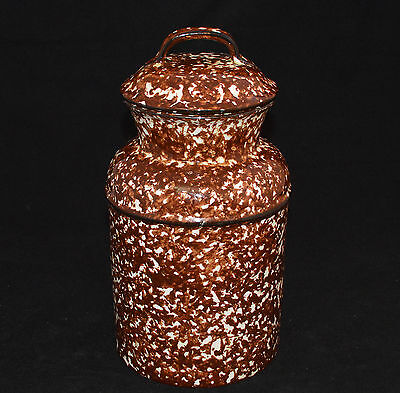 Stangl Milk Pail Canister Town & Country Brown