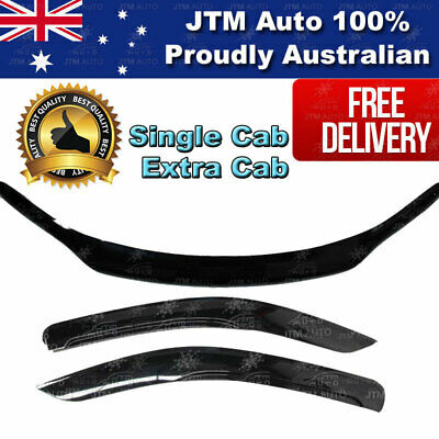 Single Cab Bonnet Protector & Weather Shields to suit TOYOTA Hilux 2015-2019
