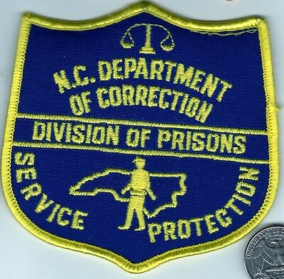 POLICE PATCH North Carolina Department of Corrections CORRECTION PRISON Officer