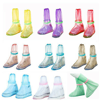 Rain Shoes Cover Waterproof Snow Reusable Anti-Slip Thicken Sole Shoes Covers
