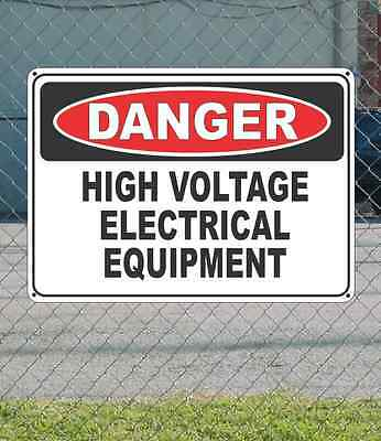 "DANGER High Voltage Electrical Equipment - OSHA Safety SIGN 10"" x 14"""