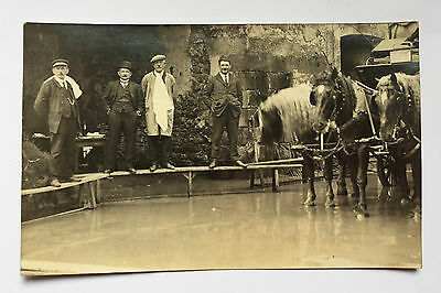 CPA Carte Postale Ancienne Photo Paysan Maquignon Inondation Cheval années 1900
