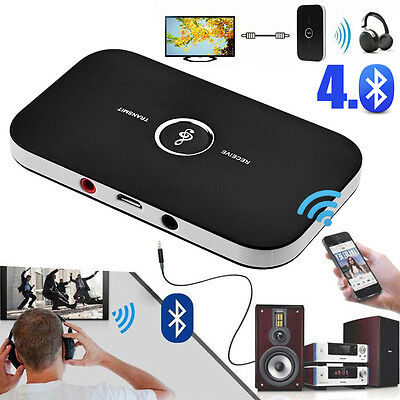 Wireless Bluetooth Music Audio Receiver Transmitter 3.5mm 2 in1 Adapter