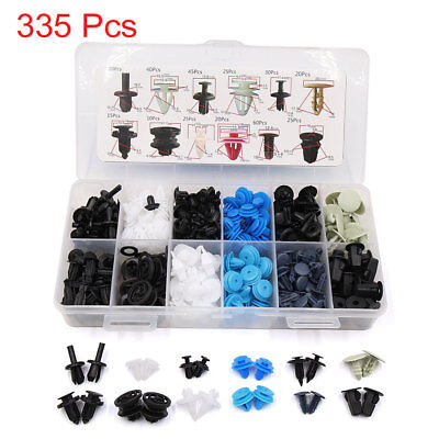 335Pcs 12 Type Plastic Rivets Door Bumper Fender Fastener Retainer Clips for Car