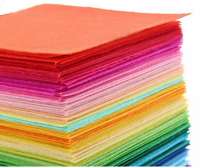 40pcs 15x15cm Felt Fabric Wool Feel 1mm thickness Non Woven registered mail
