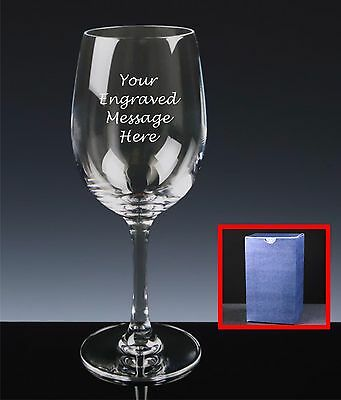 Personalised Engraved Red Wine Glass, Mother's Day, Lovely Gift For Mum