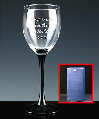 Personalised White Wine Glass, Mother's Day, Gift For Mum, Best Mum In The World