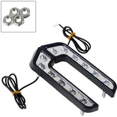 2X LED White Car Driving Lamp Fog 12v Universal Drl Daytime Running Light VL