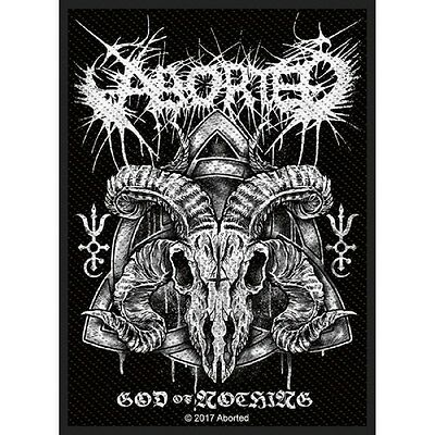 ABORTED - God of nothing Patch Aufnäher 8x10cm