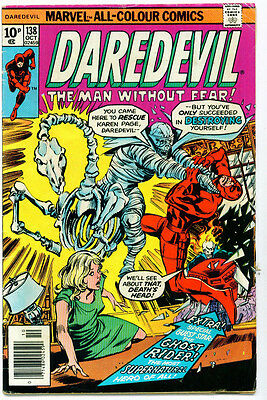 |•.•| DAREDEVIL (VOL.1) • Issue 138 • Ghost Rider • Marvel Comics