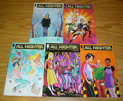 All Nighter #1-5 VF/NM complete series - david hahn - image comics 2 3 4 set lot