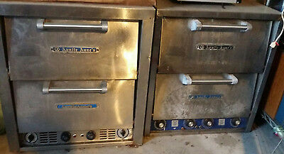 (2) Bakers Pride Electric Double Ovens For Pizza Pretzel Bakery