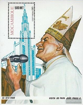 Mosambik block22 (complete.issue.) unmounted mint / never hinged 1988 Pope Johan