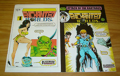 Enchanted Worlds #1-2 VF/NM complete series - blackmore - indy comics set lot
