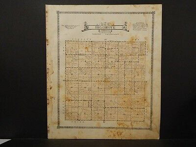 Iowa,Benton County Map, Big Grove Township 1917  K8#53