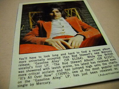 ROD STEWART look long and hard original 1970 music biz promo only trade advert