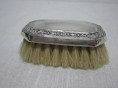 Vintage Art Deco Sterling Silver Baby's Hair Brush