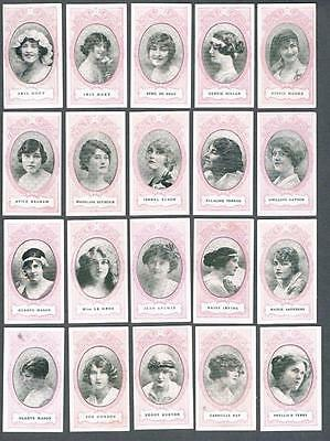 1916 Wills's Cigarettes Actresses Tobacco Cards Complete Set of 30