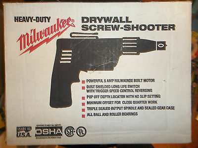 Brand New!! Milwaukee Corded Drywall Screw Shooter 5 Amp 6755-1 Free Shipping!!