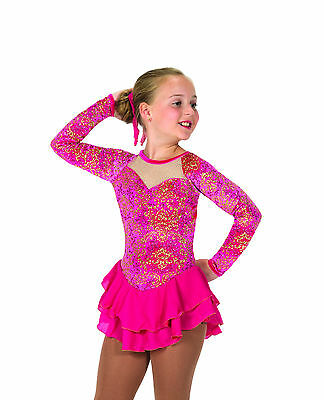 New Jerrys Competition Skating Dress 60 Fire Rays Dress Made on Order