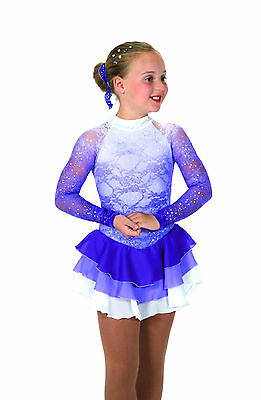 New Jerrys Competition Skating Dress 56 Misty Lace Iced Grape Made on Order