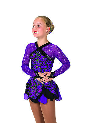 New Jerrys Competition Skating Dress 52 Cavalcade Violet Made on Order