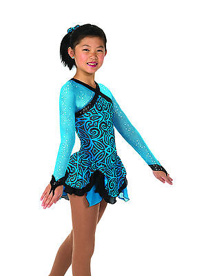 New Jerrys Competition Skating Dress 52 Cavalcade Turquoise Made on Order