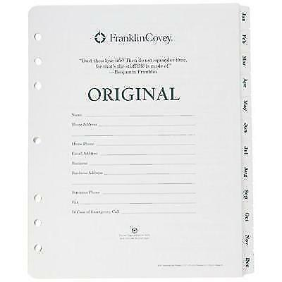 Franklin Covey 35431 Original Dated Weekly/Monthly Planner Refill, January -