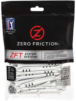"ZERO Friction ZFT System Bamboo Wooden - 120 Tees - Size 3.25""  - FREE POSTAGE"