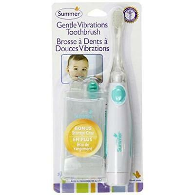 Summer Infant Gentle Vibrations Toothbrush, Teal/White New